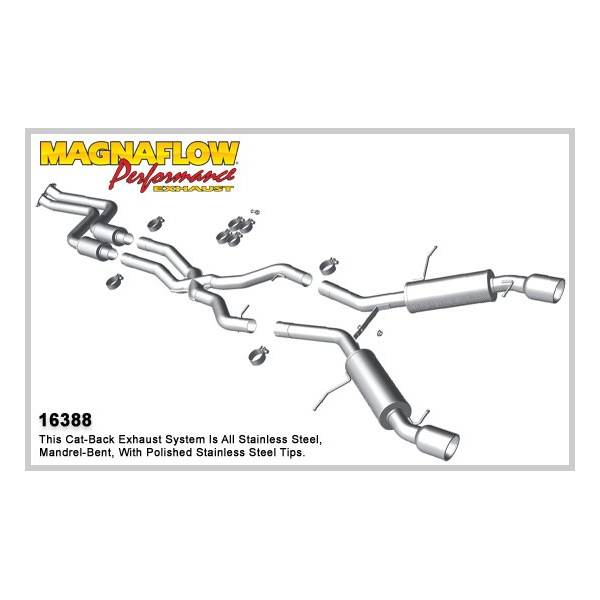 Demi-ligne inox magnaflow BMW 335i 3.0L Coupe Tour (sauf cab) F30