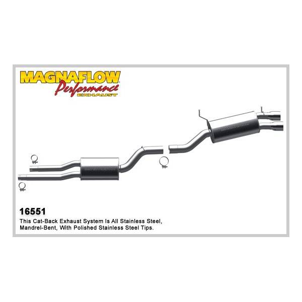 Demi-ligne inox magnaflow BMW 525i/530i E60 3.0L/2.5L