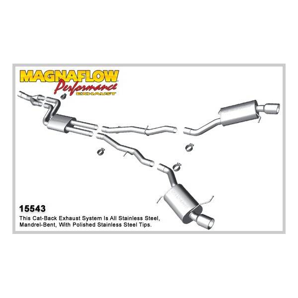 Demi-ligne inox magnaflow BMW 535 3.0L T Touring (535I) F10
