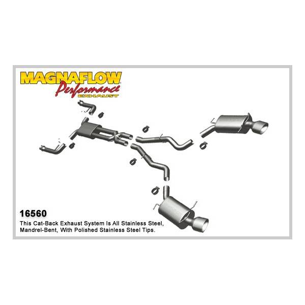 Demi-ligne inox magnaflow BMW 645/650 E63/E64