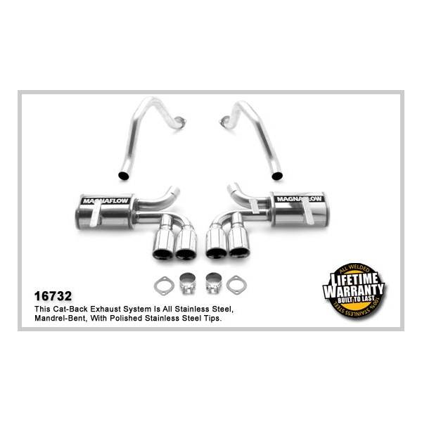 Demi-ligne inox magnaflow Chevrolet Corvette C5 5.7L