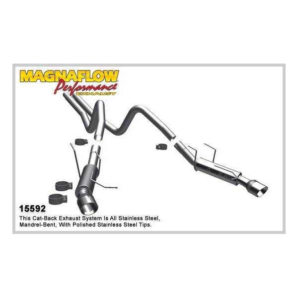 Demi-ligne inox magnaflow Ford Mustang 3.7L