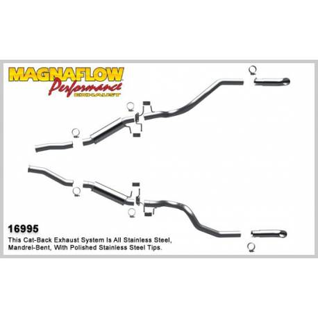 Demi-ligne inox magnaflow Ford Mustang GT 5.0L