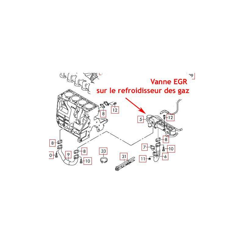 kit de suppression vanne egr moteurs vag  cr   1 6tdi caya