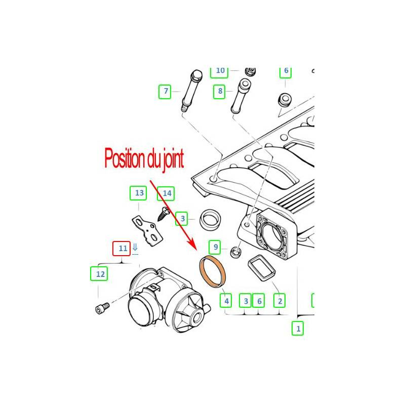 kit suppression vanne egr bmw vanne egr  u00e0 commande pneumatique